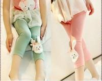 New Children's clothing Cartoon Bunny leggings girl baby bottom cropped legging 570096J
