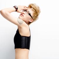 Freeshipping Super Flat Les GL Lesbian Chest Breast Binder Tomboy Slim Fit Vest S~4XL