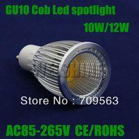 100X High power 10W/12W dimmable GU10 LED Cob Light LED Bulb Lamp led spotlights indoor size 50X80MM led spotlightsCE ROHS-001