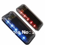 2013 the latest 5 led solar charger car alarms violent flash light car sensors