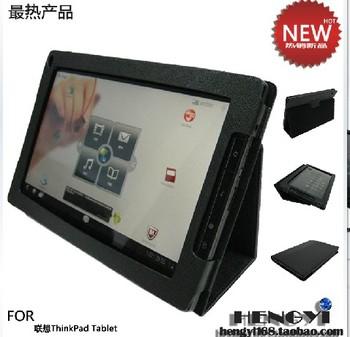 "Black Leather Stand Holder Case Cover For Lenovo thinkpad 10.1"" 1838 tablet"