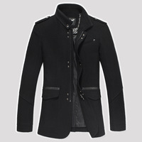 Free Shipping Men 2014 Autumn Winter  fashionable casual woolen Coat,men's clothing Zipper outerwear
