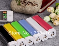 10pcs lipstick 2600mah Power Bank Portable battery Charger external battery charger for iPhone/iPad/Samsung/nokia mobile phone