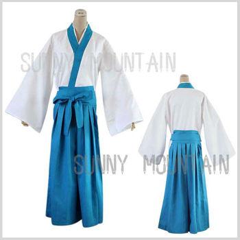 Free shipping Shimura Shinpachi Kimono suit for GINTAMA cosplay costume