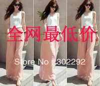 Free shipping 2013 spring wide leg pants plus size fashionable casual female chiffon high waist trousers skirt trousers