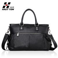 2014 Handbags Bolsas Femininas Medium(30-50cm) New Hot Brand Men Bag Handbag Shoulder 100% Leather Men's Briefcase free Shipping