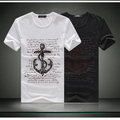 2013 New Design Good Quality Men's Fashion short-sleeve round neck T-shirt Free Shipping