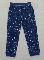Boys home wear knit pants / leggings constellation sky models