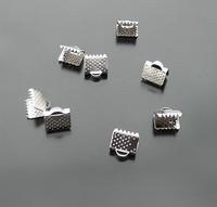 ribbon crimp ends 6mm, nickel plating ,iron material ,1000pcs/bag
