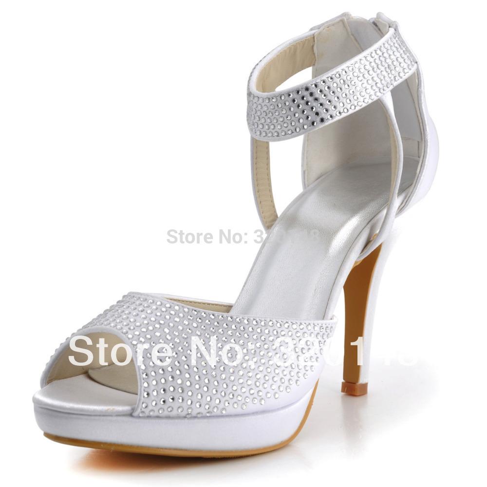 White High Heel Sandals For Wedding