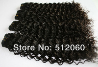 Indian virgin hair extensions, Deep Wave Curly, Mixed length 12-30inch 4pcs/lot, natural color ,