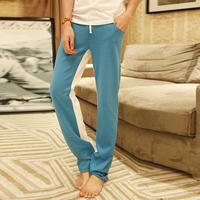 Trend jncq slim health pants trousers long trousers male sports pants cotton spring
