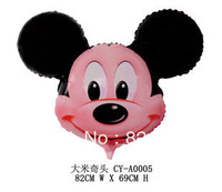 Free Shipping kids birthday mickey and minnie Balloons 50pcs/lot , 82X69cm