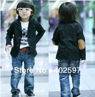 promotion Free shipping 2013 boys jacket blazer for boys all-match spring kid's outerwear boys fashion suit boys black coat