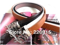 Korean brand VW alphabet Men Belts Women Belts Men's Cowhide Belts 4 Colors Free Shipping W071