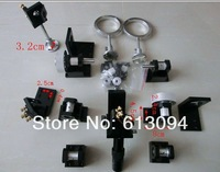 Co2 laser machine parts including laser head mirror mounts tube support belt fixutre speed reducer gears