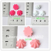 30pcs Flatback Resin Cabochon Cream Optional Pink Rosy White for DIY Mobile Cell Phone Case Jewelry Material Accessories