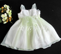 2012 princess spaghetti strap princess dress wedding dress child skirt one-piece dress puff skirt pleated skirt