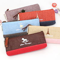 Min Order $20 (mixed order) 1235 korea stationery time fashion brief fluid pencil case stationery cosmetic bag  (CQ)