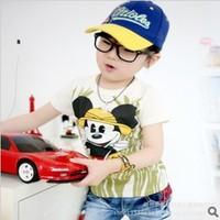 2013 summer cartoon t-shirt girls t-shirts 100% cotton t shirt boys mickey mouse children clothes