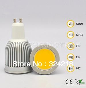 50pcs/lot GU10 10W COB LED Spot Light Bulbs Lamp dimmable Warm White/Cool White High Brightness Free Shippin(China (Mainland))