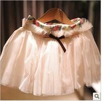 all-match baby princess skirt lace mosquito net skirt
