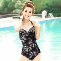 Hot spring swimwear fashion steel push up one piece swimwear female ezi1089