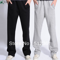 Free Shipping,2013 New Men Casual Sports Pants/ loose male trousers/Loungewear and nightwear,Black&Gray