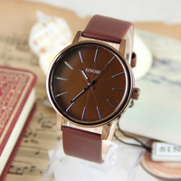 New Quality Fashion Busniess Sports Casual Sinobi Quartz Analog Leather Watch Wristwatches 050