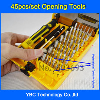 45 in 1 Precision Screwdriver Opening Tools Repair Phone Disassemble Tools set Kit For iPhone iPad HTC Cell Phone Tablet PC