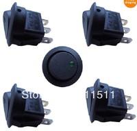 Green LED Light 12V Round Rocker Dot Car Auto SPST Toggle Switch MOQ 100pcs