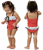 """5 pcs / lot Free Shipping NWT Cute Baby Toddler Kid's Girl Swimwear Swimming suit """"Minnie-Onepiece""""  girls gift"""