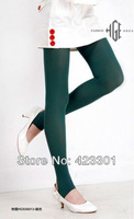 Free shipping New Dark Green Vogue Thin Beautiful Korea Girls' Stockings Step Leggings