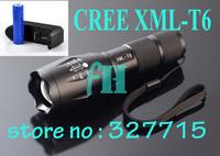 Ultrafire LED Torch 2000LM  CREE XML T6 LED Flashlight Waterproof Led Flashlight+ 1x 18650 battery  + charger  Free Shipping