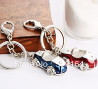 Free shipping! Fashionable Lovers Sport Cars Crystal Deocr Key Chain