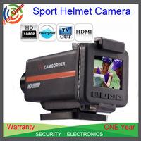 Free Shipping!1080P 170 Degree Sport Action Camera+Helmet waterproof camera + Full HD 1080P+ 1.5 inch screen+ 4 x digital zoom