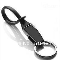 Free shipping! Fashionable Menu Black or White Titanium Plated Key Chain