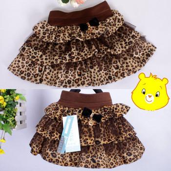 Новый стиль дети малышей девушки черный кофе с молоком леопарда тюль танец юбки 2 - 6 лет
