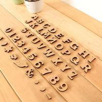 Mini wool small letter digital furniture accessories props 2.5cm zakka