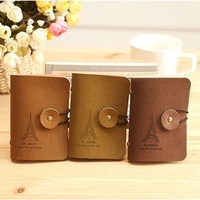 Real Free Shipping. Tower card holder leather velvet 20 place card