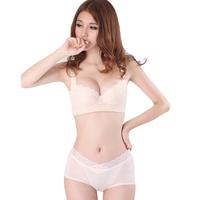 Fritz silk protein underwear female thin adjustable bra sexy push up bra set 18- 1