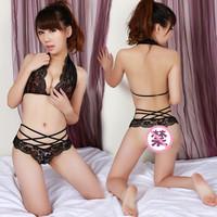 Lace bikini lingerie bra skimpily single-bra twinset 5072