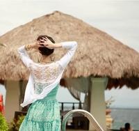 Givlie beach clothes thin coat top shirt
