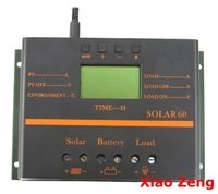60A LCD Solar Battery Regulator Charge Discharge Controller 12V 24V With USB