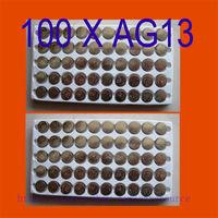 100PCS  AG13 Button Cell Batteries AG 13 G13 LR44 A76 N ship by air mail