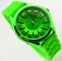 free shipping fashionable silicone watchband wrist watch min order 8$