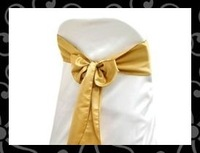 Free shipping  sash- satin sash -chair cover sash