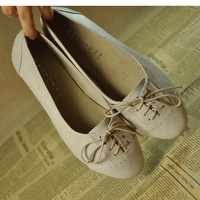 2013 spring genuine leather vintage women's flat single shoes flat heel round toe shoes casual shoes boat shoes