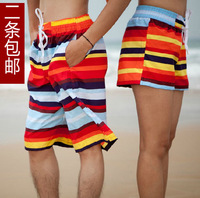 Beach pants lovers shorts plus size male quick-drying pants