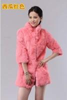 Fashion new style Fur coat fox fur rabbit sweater vest short medium-long vest women's free shipping! rex rabbit hair